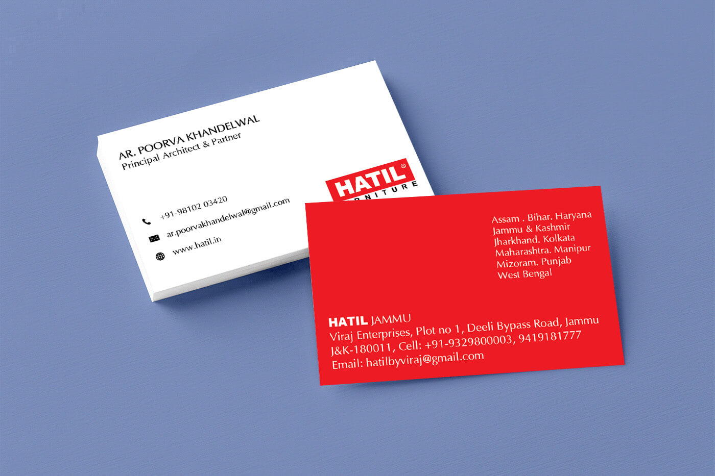 BUSINESS CARD - JAMMU SHOWROOM, INDIA