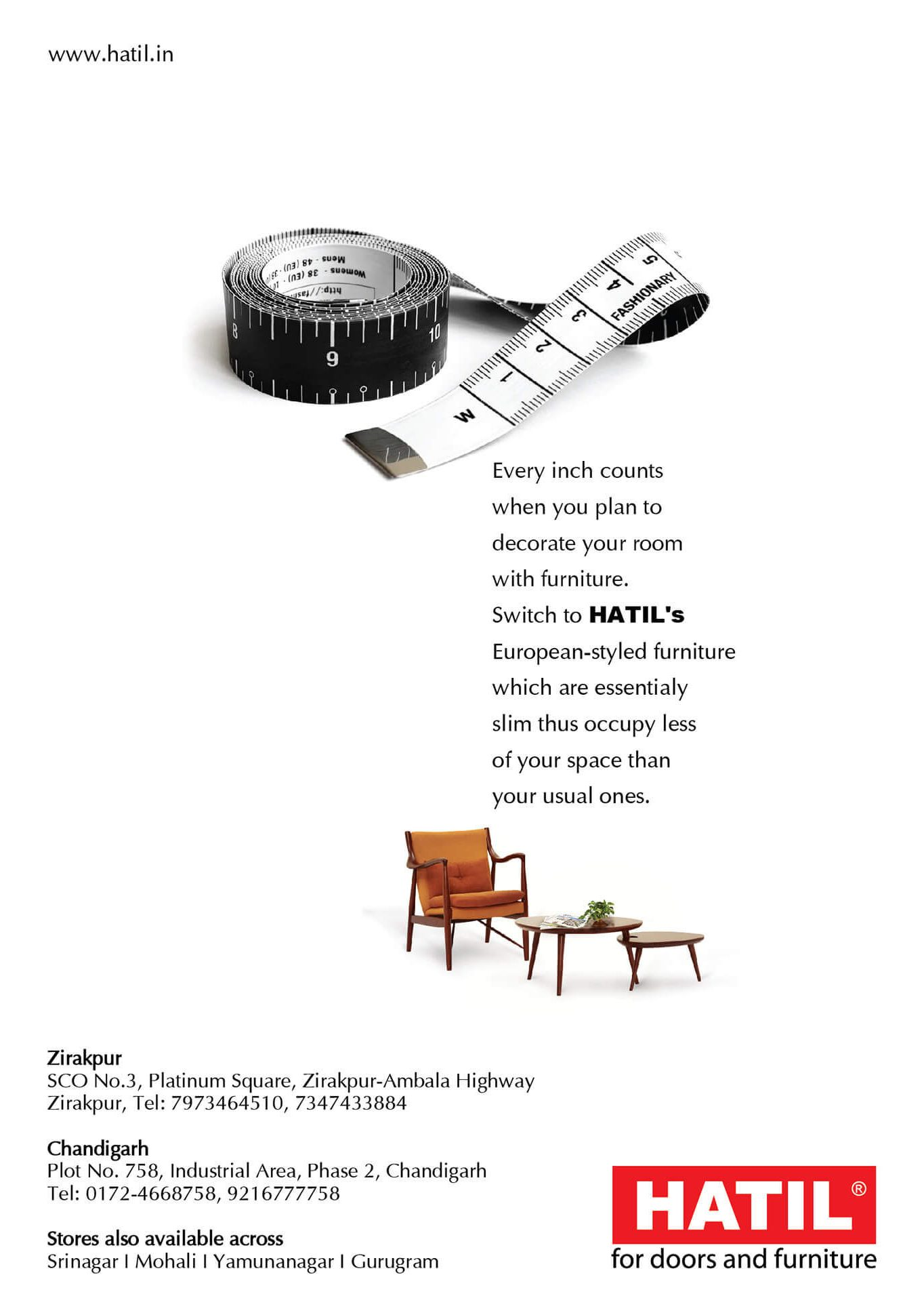 """SLIM"" FURNITURE CAMPAIGN- FOR INDIA SHOWROOMS"
